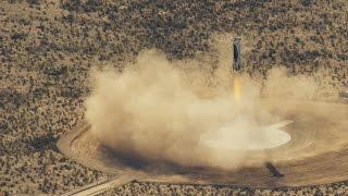 """""""بلو أوريجين"""" تنشر مقطع فيديوعن التحليق الثالث لصاروخها (فيديو)"""