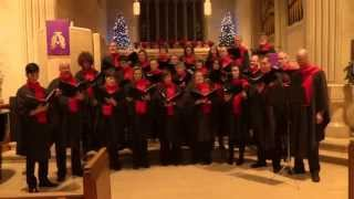 """Good King Wenceslaus"" - arr: Sir  David Willcocks -- The Stairwell Carollers"