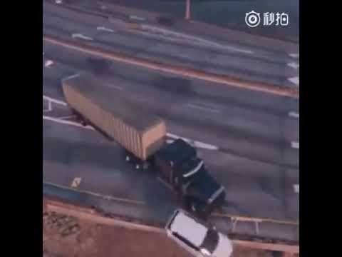 Media Would_A rare type of accident on one of China's major Highways
