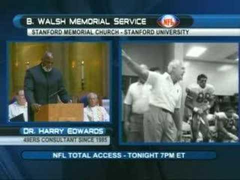 Harry Edwards' Eulogy at Bill Walsh Memorial Pt1