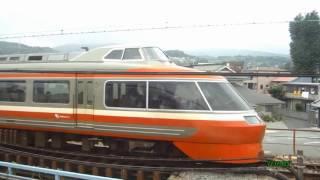 【列車防護無線発報中・・・】 すぐそばをロマンスカーが通過!!  東海道本線 小田原-早川