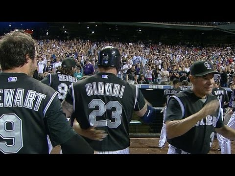Giambi launches a two-run, walk-off blast