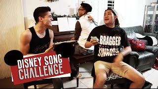 Disney Song Challenge ft. @AlexWassabi & @YellowPaco​​​ | AJ Rafael​​​