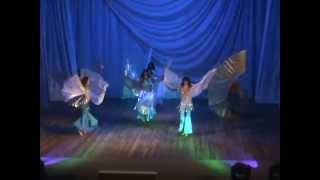 Восточный танец с крыльями/Шоу-номер.