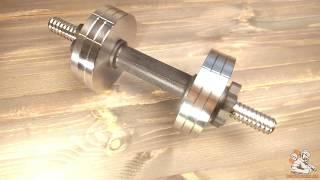 Гантель разборная 7,5 стальная с обрезиненной ручкой