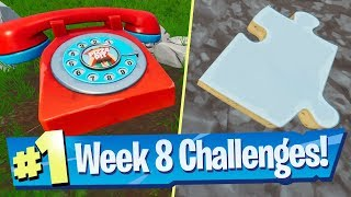 Durr Burger / Pizza Pit Phone + Jigsaw Piece Locations - Fortnite Season 8 Week 8 Challenge Guide