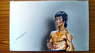Drawing Bruce Lee in 3d ll cv
