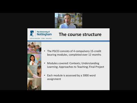 University of Nottingham PGCEi (Middle East) Webinar - 16 August 2017