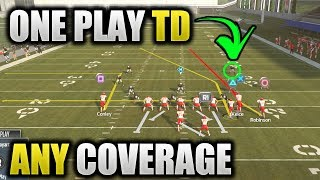EASY ONE PLAY TD BEATS ANY COVERAGE | COVER 2 3 4 0 1 BEATER | Madden 19 Tips - 99 Yard TD