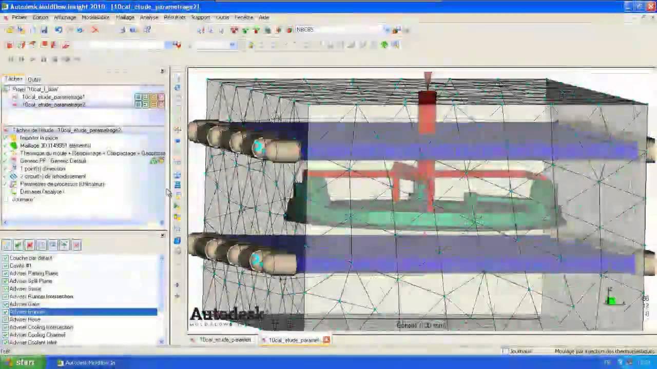 Conception Et Simulation Plastique Avec Imold Solidworks Moldflow Narration