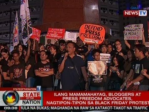 Ilang mamamahayag, bloggers at press freedom advocates, nagtipon-tipon sa Black Friday Protest
