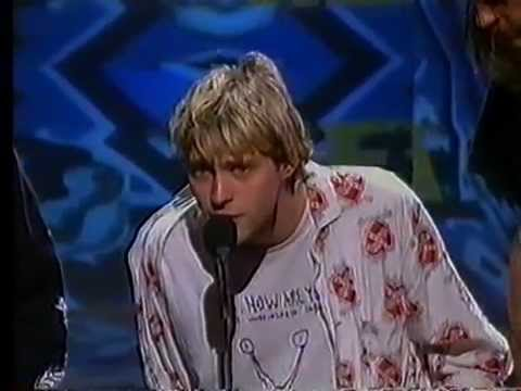 Nirvana - Best New Artist acceptance ( MTV  Video Music Awards 1992)