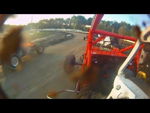Dan Douville In-Car | SCoNE Wingless at Bear Ridge Speedway 8-5-2017