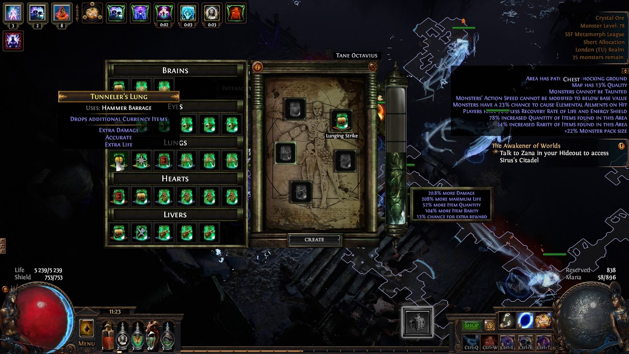 Path of Exile: SSF Metamorph 20th Exalted Orb drop - YouTube