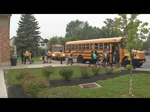 Students head back for first day at Charter School for Applied Technologies