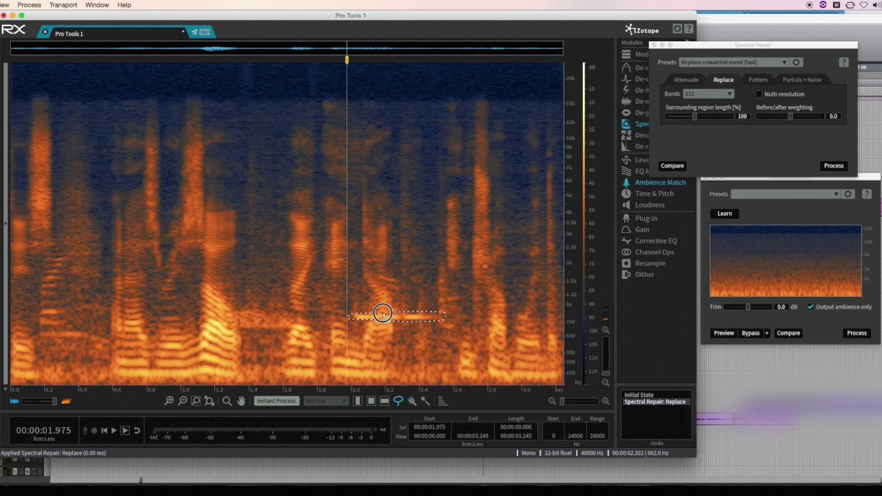Izotope RX How to Remove Unwanted Tone from Dialogue