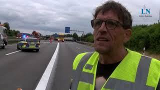 Lkw-Unfall mit Explosion auf der A20 bei Lübeck - Ersthelfer berichtet