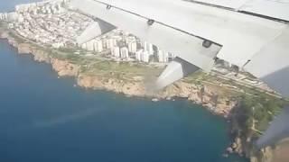 Boeing 737-800 посадка в Анталии 5 мая 2018