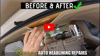 BEFORE & AFTER - NISSAN PATHFINDER - SAGGING ROOF LINING REPAIR