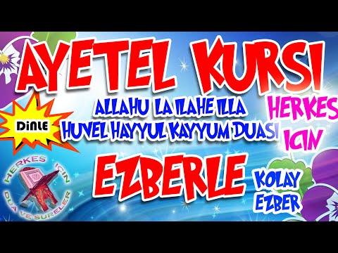 Ayetel Kürsi ezberlemek için Herkes için Ayetel kürsi dinle ezberle Türkçe okunuşu Anlamı