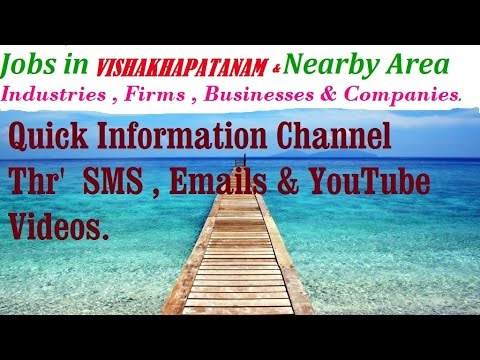 JOBS in VISAKHAPATNAMfor Freshers and graduates Industries,companies.