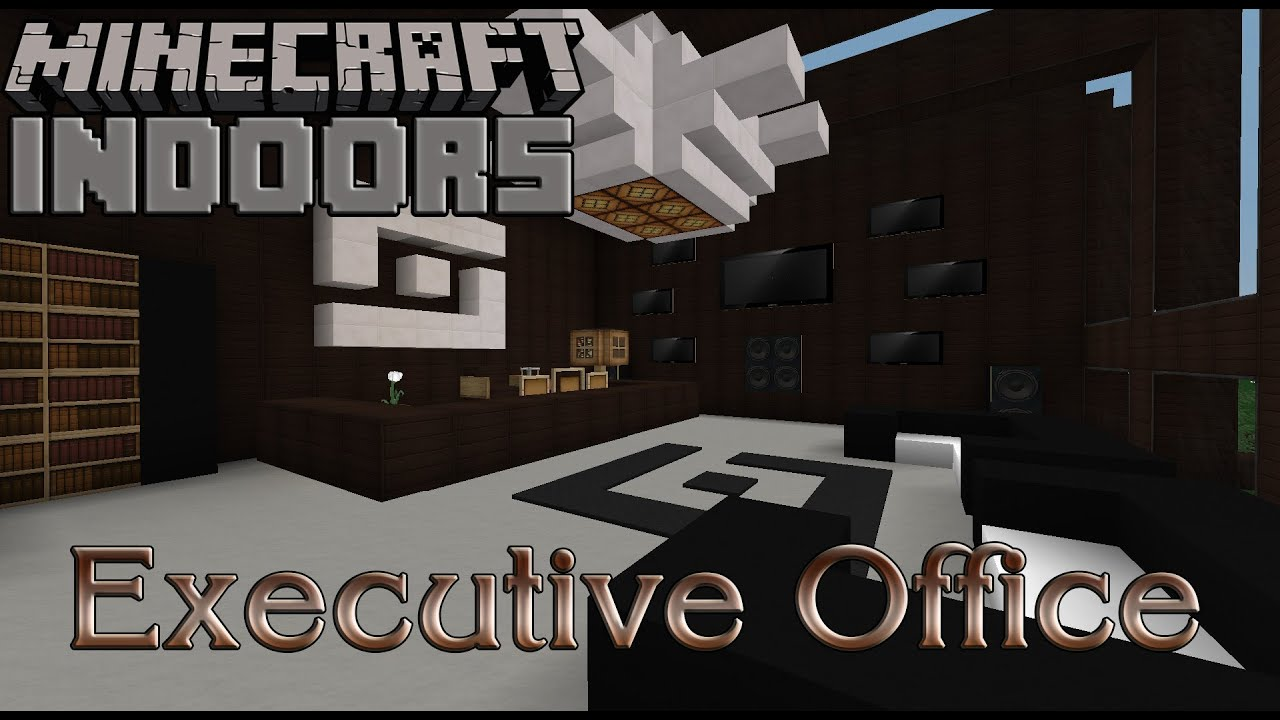 Executive office minecraft indoors interior design youtube for Minecraft house interior living room
