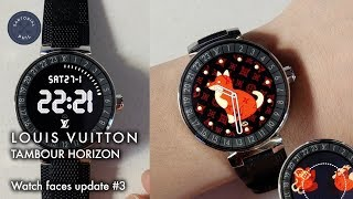 Louis Vuitton Tambour Horizon Smartwatch: Watch faces update #3 (WSS18 & CNY18)