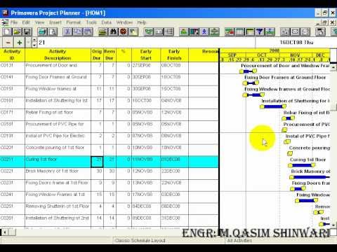 Primavera project planner 3 part 9 of 13 youtube for Project planner hd