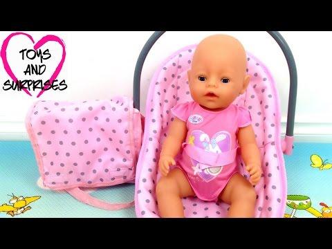 Видео про куклу Baby Born игрушки для девочек Собираем сумку Мамы для прогулок с малышом Baby Doll