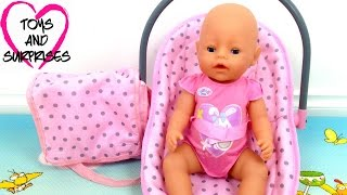Видео про куклу Baby Born игрушки для девочек Собираем сумку Мамы для прогулок с малышом Baby Doll(Видео для девочек, которые любят играть в куклы пупсики и дочки матери. Мы решили пойти на прогулку с куклой..., 2015-10-08T03:00:00.000Z)
