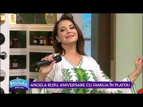 Angela Rusu, aniversare cu familia in platou
