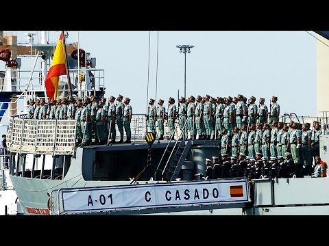 DESEMBARCO LEGIONARIOS en Málaga 2017 (MEJORES IMÁGENES)