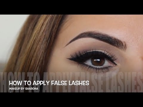how to put on false lashes youtube