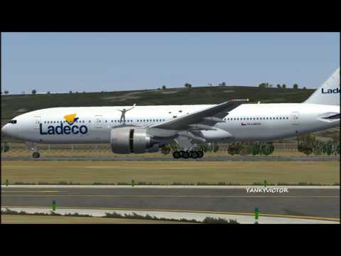 LADECO 777 LANDING AT BARILOCHE AIRPORT ARGENTINA