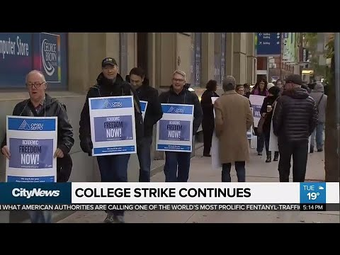 Ontario college faculty strike continues for second day