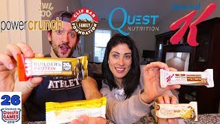 The best protein Bar Review | Special K , Power Crunch , Quest Nutrition , Cliff Bar
