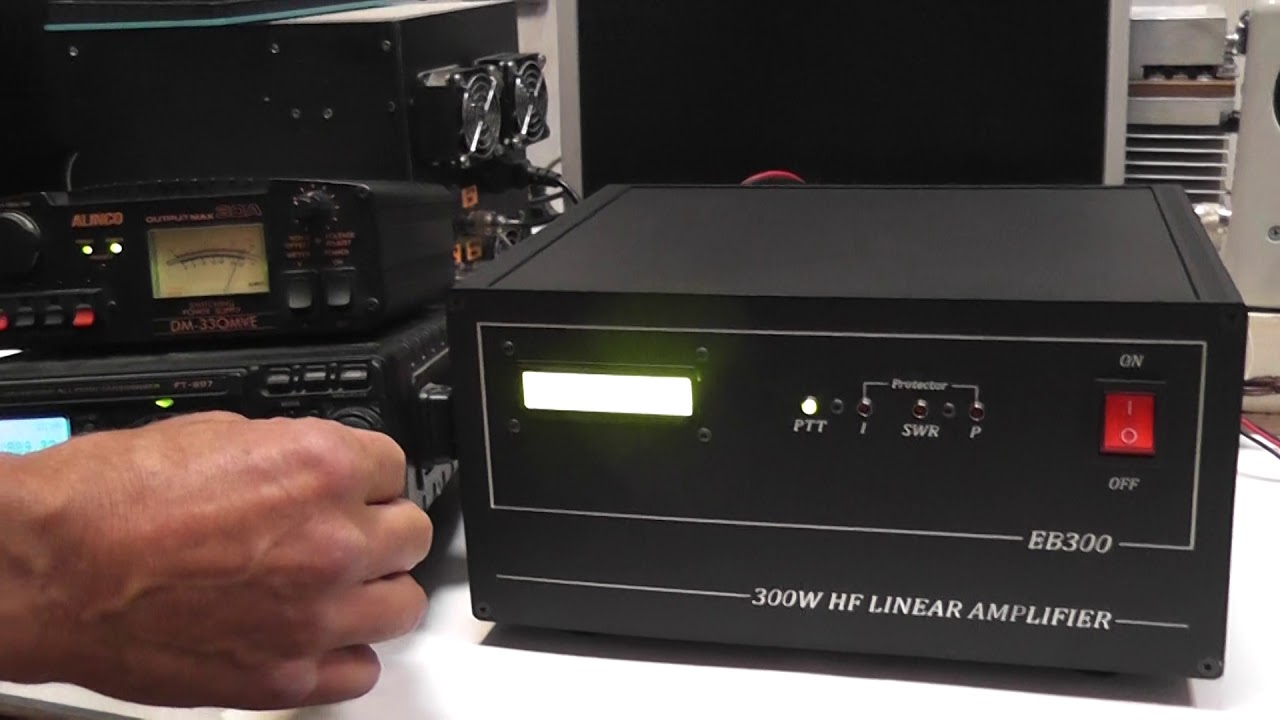 Test HF power amplifier 300W EB300 MOSFET for R2DIA