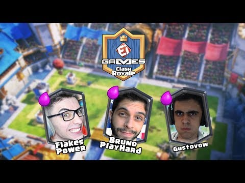 PLAYHARD x ROYALE NEWS e GUSTOVOW x GELLI CLASH NA COPA EI GAMES DE CLASH ROYALE!