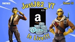 FORTNITE SEASON 10-$25 Amazon Code giveaway @700 Subs Solo's Duo's Squad's