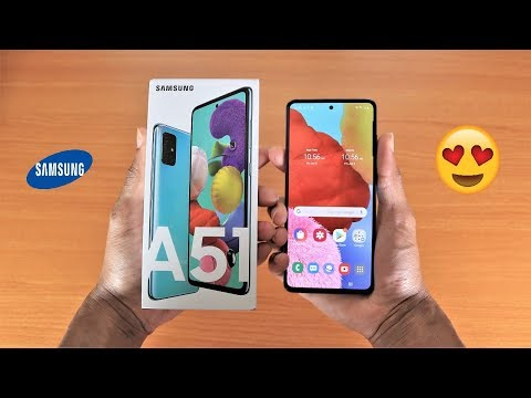 Samsung Galaxy A51 Unboxing & Setup