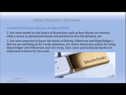 Certified Blockchain Solutions Architect Exam Review and Top five reasons to get Certified