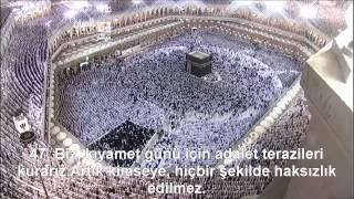Enbiya Suresi Kabe İmamı Sudais / Shuraim Türkçe Altyazılı Mealli