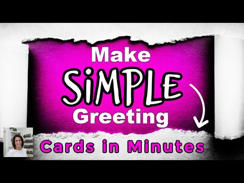How To Make Simple Greeting Cards With Paper, Ink & A Few Minutes