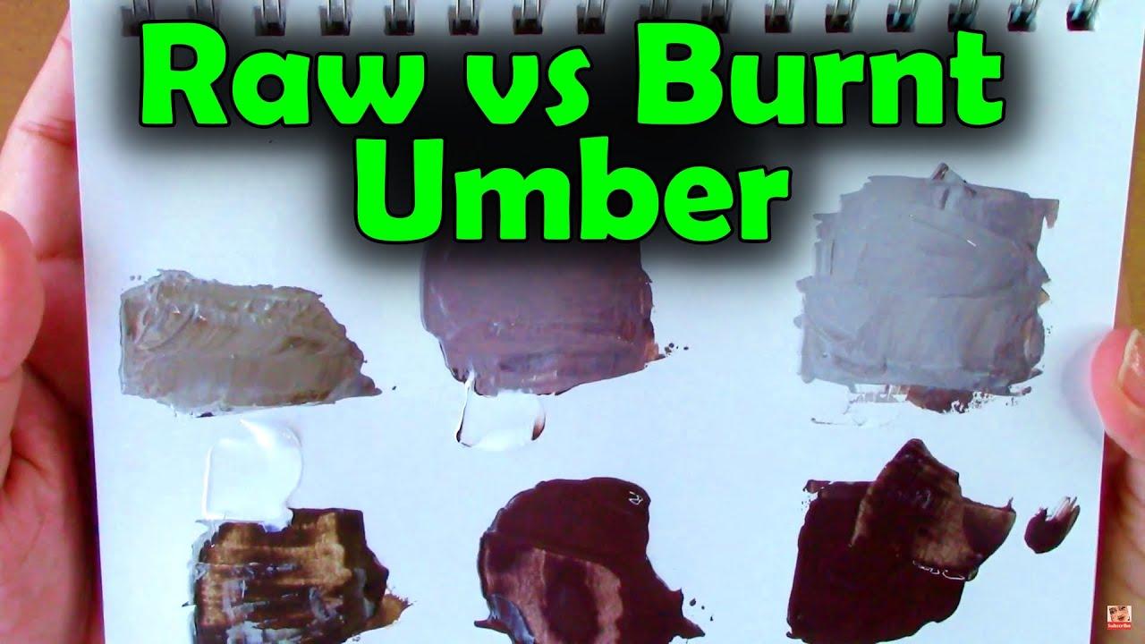 Raw Umber Vs Burnt Umber Vs Vandike Brown Color Chart Art Painting