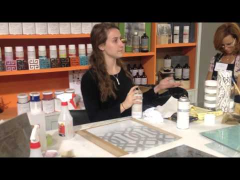 How to Use Spray Lacquer on Glass - Amy Howard at Home Paints - Thrift Diving