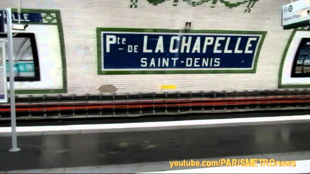 Porte de la chapelle m tro de paris line 12 youtube for Porte de la chapelle