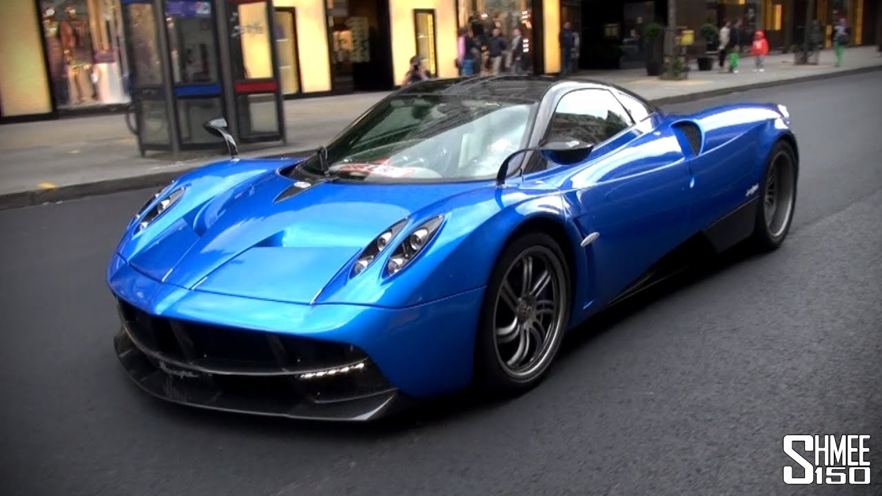 Arab Pagani Huayra on the road in London - Driving Clips - YouTube