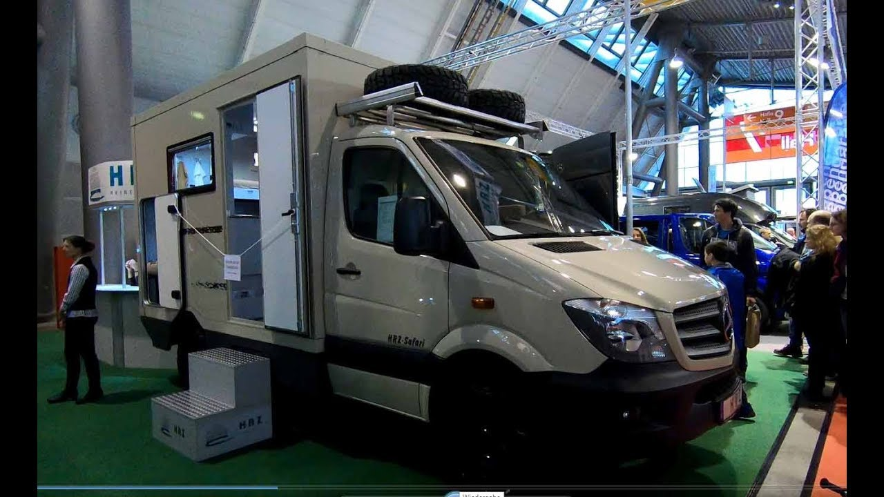 MERCEDES BENZ SPRINTER 4X4 BY HRZ SAFARI CAMPER EXPEDITION VEHICLE WALKAROUND INTERIOR