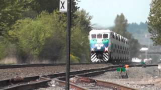 SOUNDER Commuter Train with Friendly Engineer