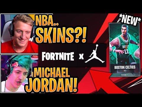 Streamers React to *NEW* Fortnite x Michael Jordan Event (NEW NBA SKINS?!) Coming to Fortnite!